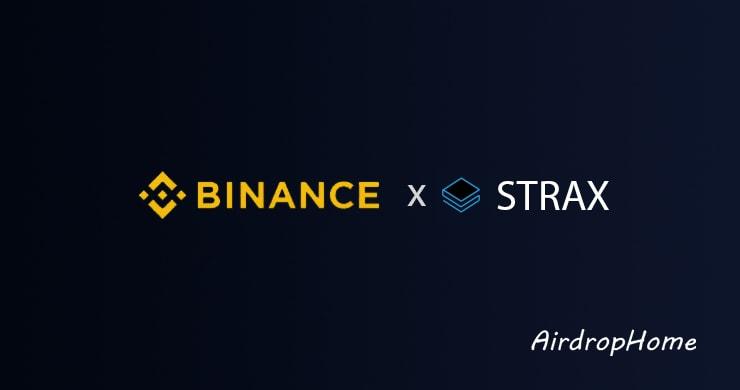binance-x-strax logo